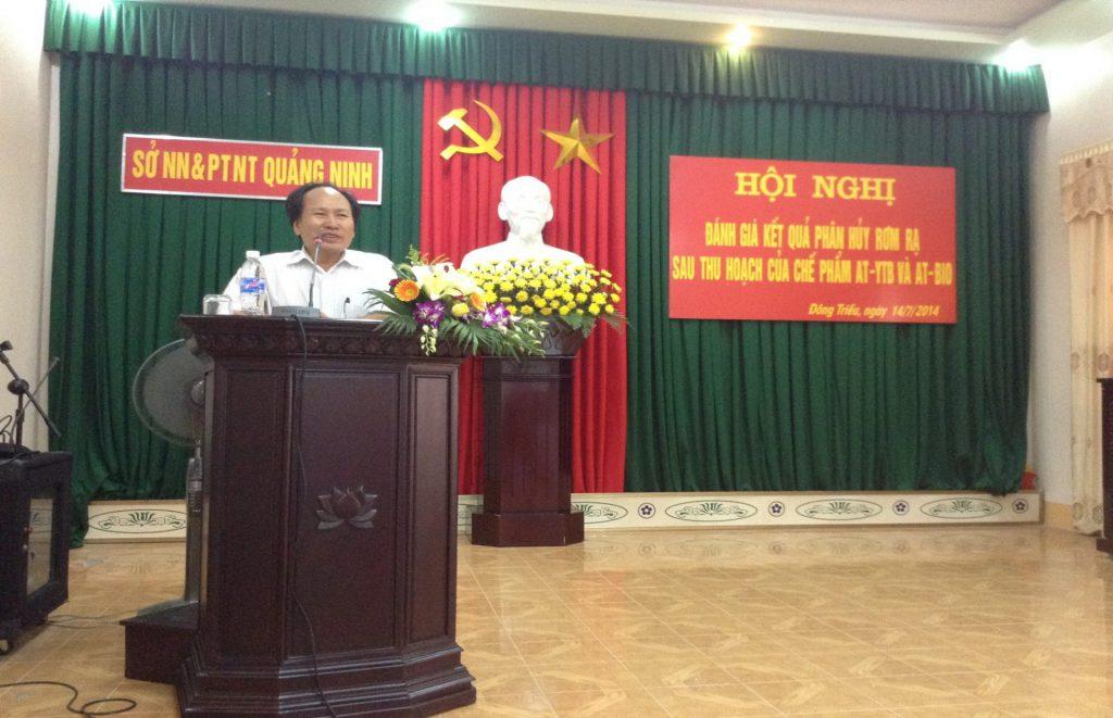 Hội nghị tổng kết đánh giá kết quả xử lý rơm rạ trên đồng ruộng của tỉnh Quảng Ninh do Sở Nông Nghiệp tổ chức