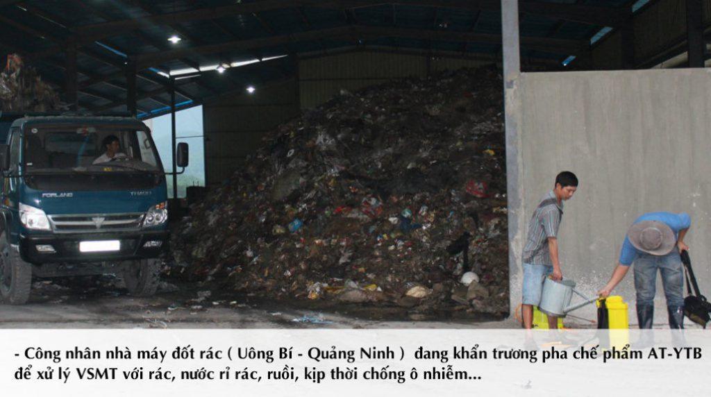 Sử dụng chế phẩm dung dịch AT-YTB để xử lý ngay mùi trong khu vực nhà máy