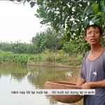 Vi sinh của Cty TMH giúp ao cá giống nhà anh Quý khỏe mạnh vượt qua thời điểm giao mùa