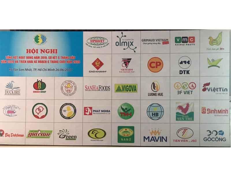 Các công ty hội viên Hiệp hội gia cầm Việt Nam tham dự hội nghị ngày 26/06/2020 tại Trung tâm hội nghị Khách sạn Tân Sơn Nhất tp.HCM